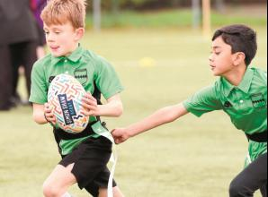 In pictures: children try tag rugby at Maidenhead Rugby Club
